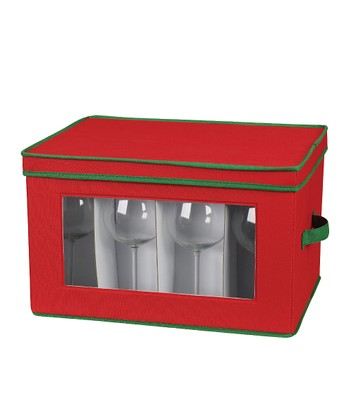 Red & Green Stemware Chest
