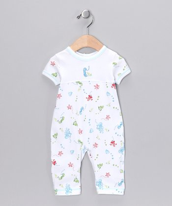 White Sea Life Playsuit - Infant