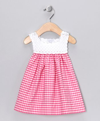 Fuchsia Analee Crocheted Dress - Infant
