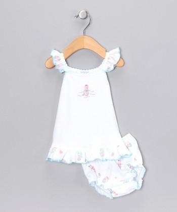 White Mermaid Dress & Bloomers - Infant