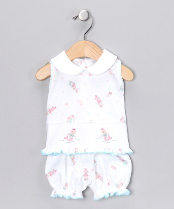 White Mermaid Top & Bloomers - Infant
