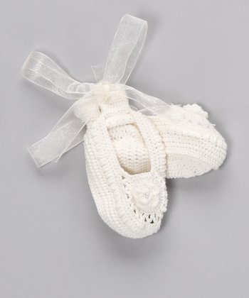 Ivory Crocheted Booties
