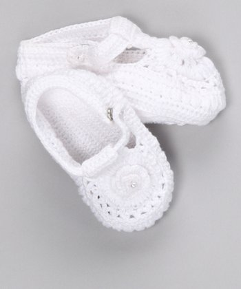 Snow White Crochet Booties - Infant