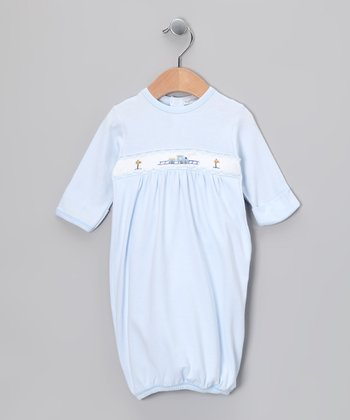 Blue Train Gown - Infant