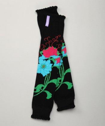 Black Bella Lily Leg Warmers