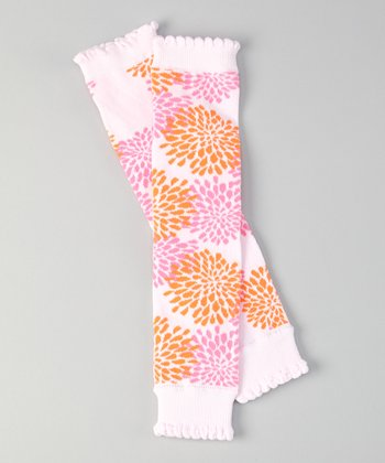 Pink Cherish Chrysanthemum Leg Warmers