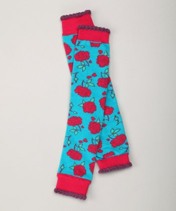 Red Rose Leg Warmers