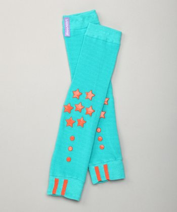 Excite Turquoise Grip Advantage Leg Warmers