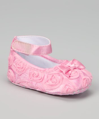 Light Pink Rosette Shoe
