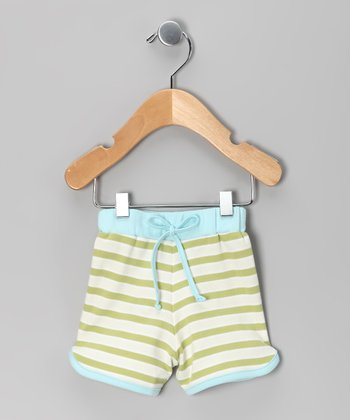 Green Stripe Shorts - Infant & Toddler