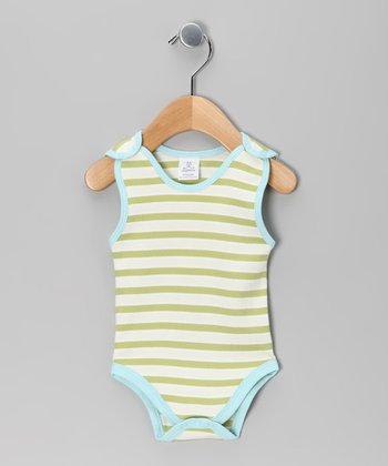 Green Stripe Bodysuit - Infant