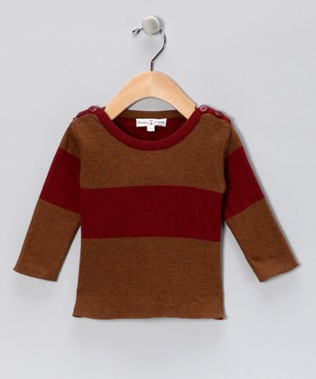 Cranberry Stripe Boatneck Tee - Infant & Toddler