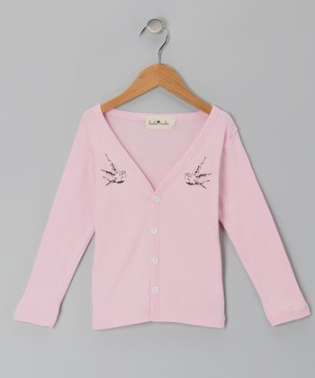 Light Pink Cardigan - Girls