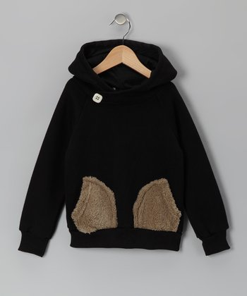 Black Pocket Hoodie - Toddler & Girls