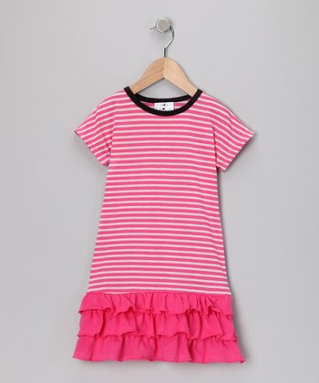 Pink Stripe Drop-Waist Dress - Infant & Toddler