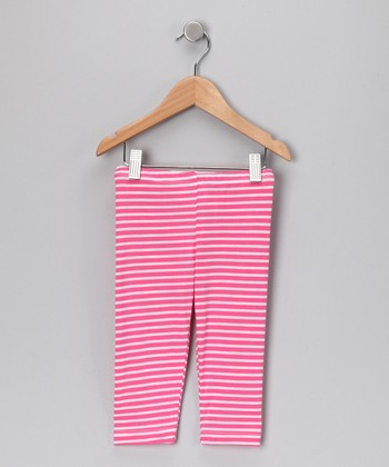 Pink Stripe Leggings - Infant & Toddler