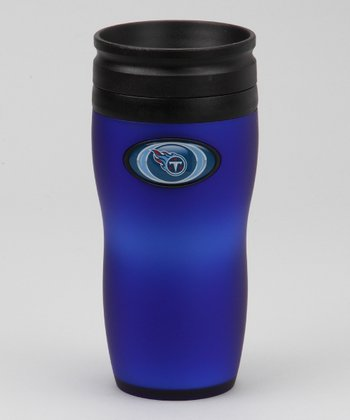 Tennessee Titans Black Soft-Touch Travel Tumbler