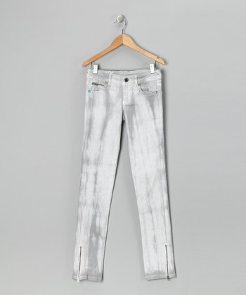 White Wash Skinny Jeans - Girls