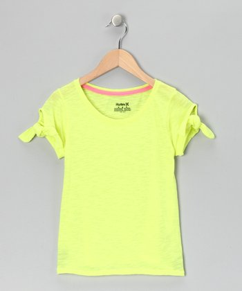 Yellow Tie-Sleeve Tee