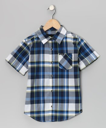 Legacy Navy Strand Button-Up - Boys