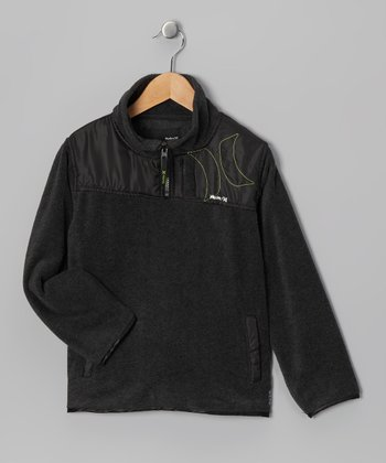 Charcoal Fleece Jacket - Boys