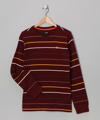 Mahogany Stripe Thermal - Boys