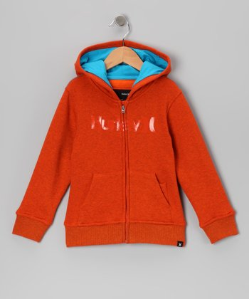 Blaze Orange 'Hurley' Zip-Up Hoodie - Infant
