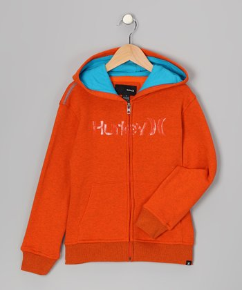 Blaze Orange Zip-Up Hoodie - Infant