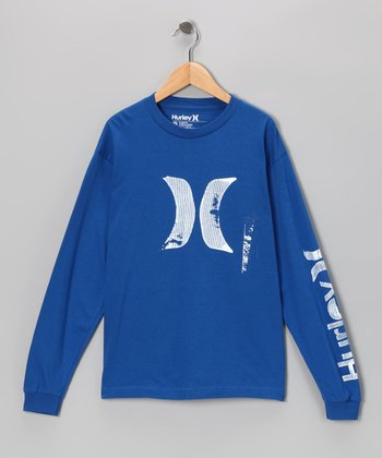 Blue Scapher Long-Sleeve Tee - Boys