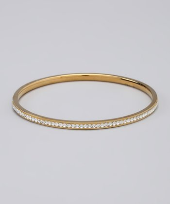 Gold Tone & Crystal Bangle