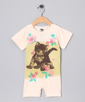 Pink Kitten Organic Romper - Infant