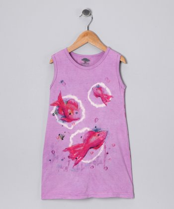 Thistle Tropical Fish Organic Dress - Toddler & Girls