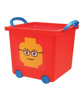 Red LEGO Toy Stacking Basket