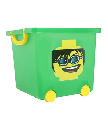 IRIS USA Green LEGO Toy Stacking Basket
