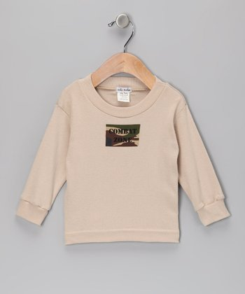 Tan 'Combat Zone' Tee - Infant