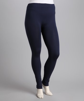 Navy Leggings - Plus