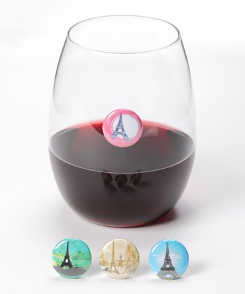 Eiffel Tower Wine Charm Set