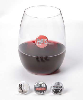 Amour Wine Charm Set