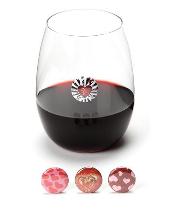 Hearts Wine Charm Set
