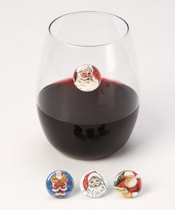 Down the Chimney Wine Charm Set