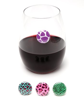Colorful Animal Wine Charm Set