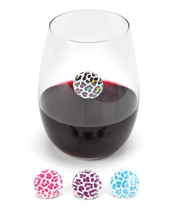 Leopard Wine Charm Set