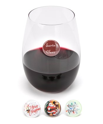 Santa Claus Wine Charm Set