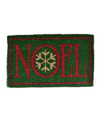 Red & Green 'Noel' Doormat