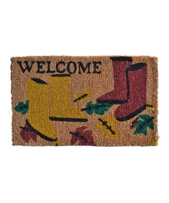 Brown & Yellow Garden Boot Doormat