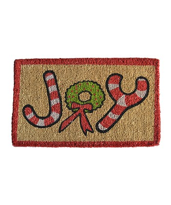 Brown & Red 'Joy' Doormat