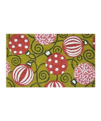 Red & Green Ornament Doormat