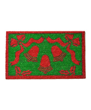 Red & Green Christmas Bell Doormat