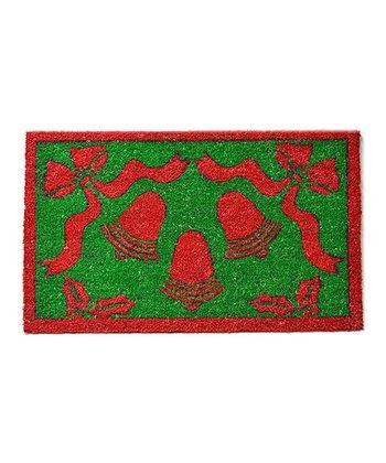Red & Green Christmas Bell Doormat