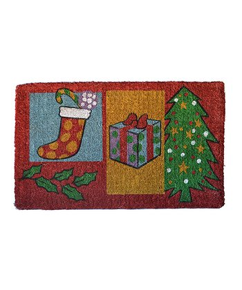 Red & Green Christmas Gift Doormat
